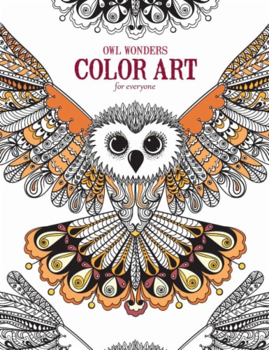 Leisure Arts Owl Wonders Color Art for Everyone Coloring Book Perspective: front
