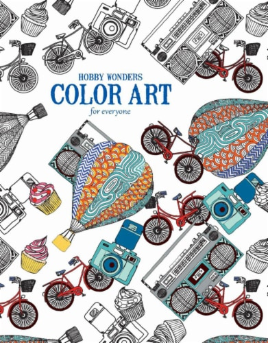 Leisure Arts Hobby Wonders Color Art for Everyone Coloring Book Perspective: front
