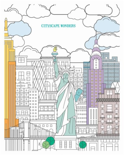 Leisure Arts Cityscape Wonders Color Art for Everyone Coloring Book Perspective: front