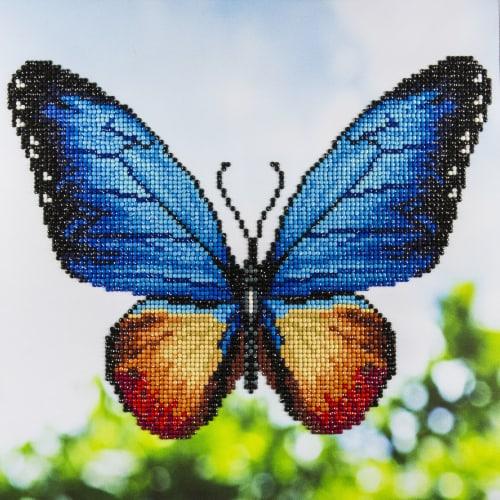 Leisure Arts 49367 Intermediate Butterfly - Diamond Art Kit, 12 in. Perspective: front