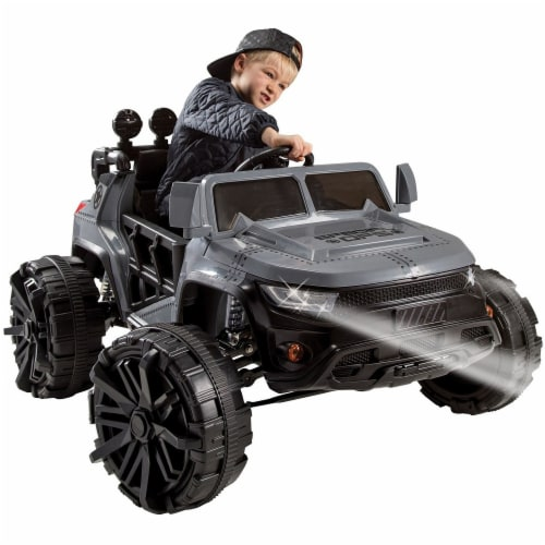 Huffy Special Ops Ride-On Monster Truck - Gray Perspective: front