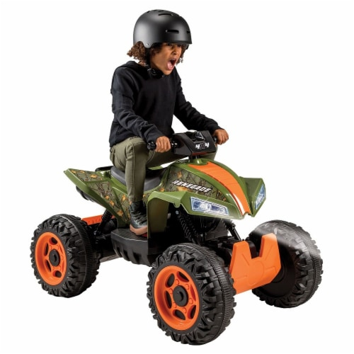 Huffy Renegade Battery Ride-On ATV - Camo Green Perspective: front