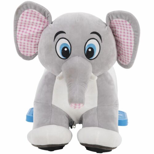 Huffy Elephant Plush Quad Perspective: front
