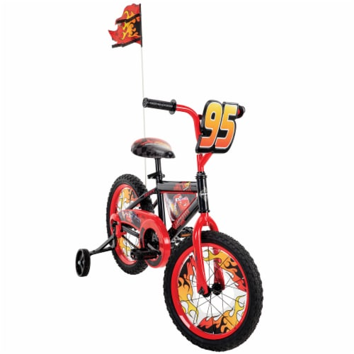 Huffy Disney Pixar Cars Bicycle - Black/Red Perspective: front