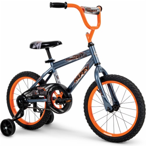 Huffy Pro Thunder Boy's Bicycle - Orange/Black Perspective: front