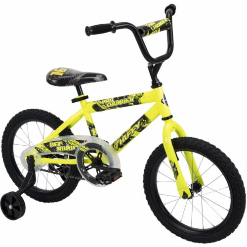 Huffy Pro Thunder Boys' Bicycle - Yellow/Black Perspective: front