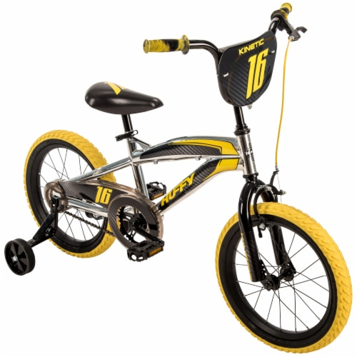 Huffy Kinetic Bicycle - Black/Yellow Perspective: front