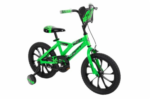 Huffy Mod X Boys Bike - Neon Green Perspective: front