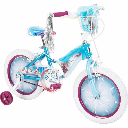 Huffy Frozen 2 Electrolights Bicycle Perspective: front