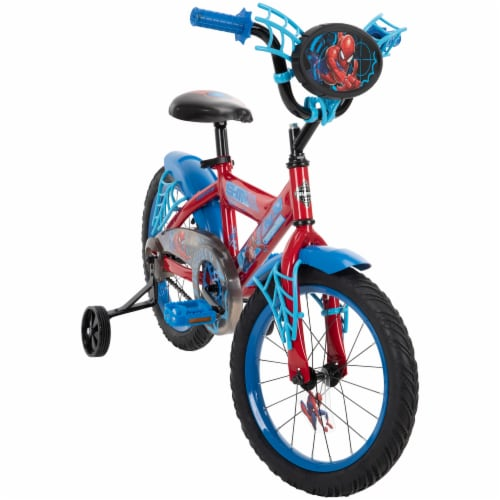 Huffy Spider-Man Bicycle - Blue/Red Perspective: front