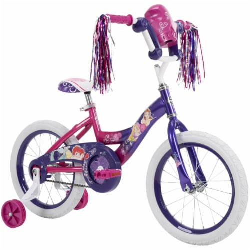 Huffy Disney Princess Bicycle - Pink/Purple Perspective: front