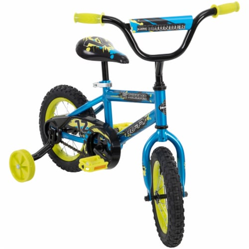 Huffy Pro Thunder Boys Bicycle - Blue/Yellow Perspective: front