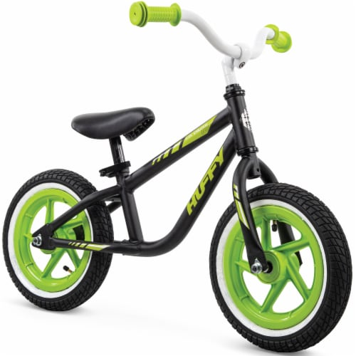 Huffy Lil Cruzier Balance Bicycle - Green/Black Perspective: front