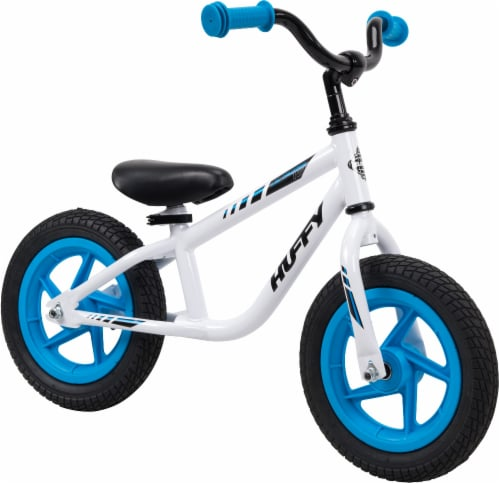 Huffy Lil Cruzer Balance Bicycle - White/Blue Perspective: front