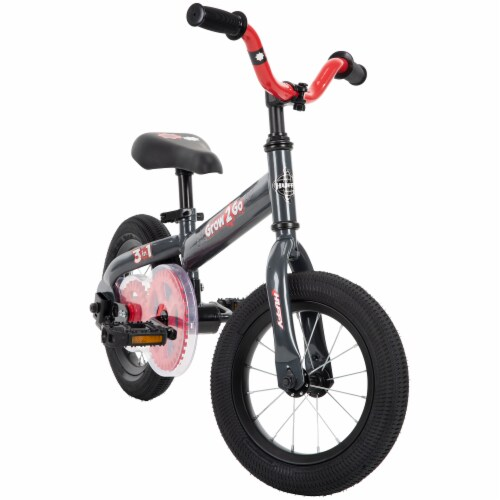 Huffy Grow 2 Go 3-in-1 Boys' Conversion Bicycle - Red/Black Perspective: front