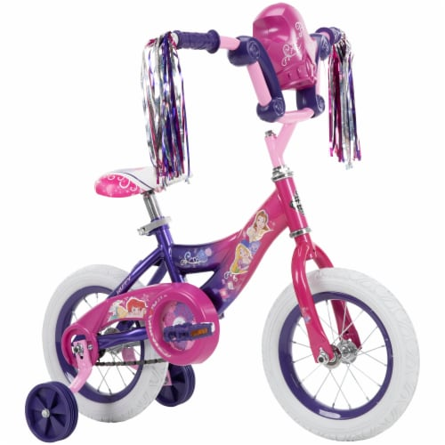 Huffy Disney Princess Girls' Bicycle - Pink/Purple Perspective: front