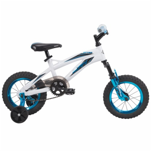 Huffy Boys' Nytro Bicycle - Metaloid Blue/White Perspective: front