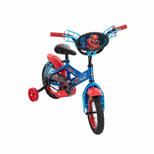 Huffy Marvel Spiderman Boys' Bicycle - Red/Blue Perspective: front