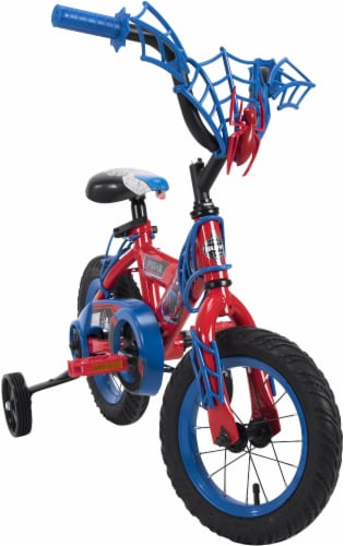 Huffy Marvel Spider-Man Boys' Bicycle - Red/Blue Perspective: front