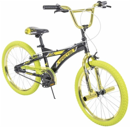 Huffy Spectre BMX-Style Boys' Bicycle - Black/Yellow Perspective: front
