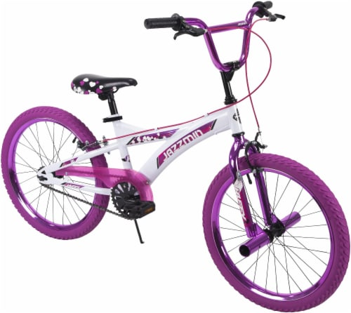 Huffy Jazzmin BMX-Style Girls' Bicycle - White/Hot Pink Perspective: front