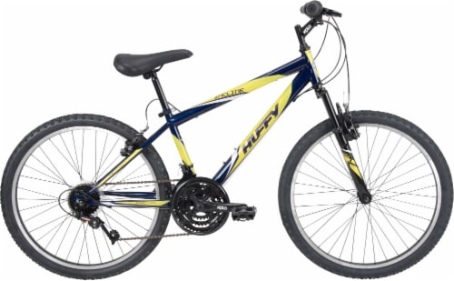Huffy Boys' Incline Mountain Bicycle - Blue Abyss/Yellow Perspective: front