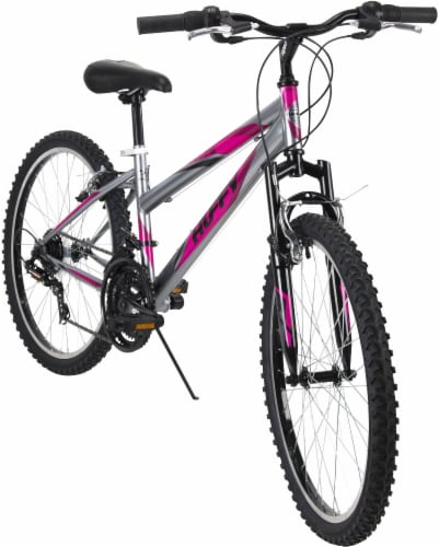 Huffy Women's Incline Mountain Bicycle - Silver/Purple Perspective: front