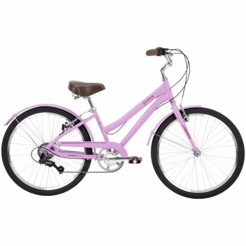 Huffy Sienna Girls Comfort Cruiser Bike - Pink Perspective: front