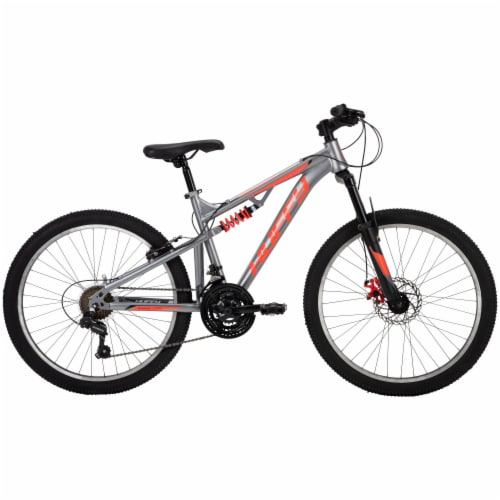 Huffy Boys Mountain Bike - Orange/Gray Perspective: front