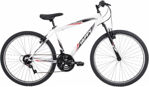 Huffy Incline Men's Mountain Bicycle - Gloss White/Black Perspective: front