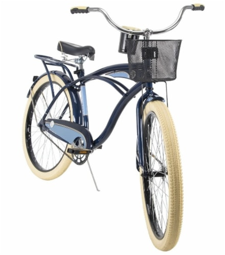 Huffy Deluxe Men's Bicycle - Midnight Blue/Light Blue Perspective: front