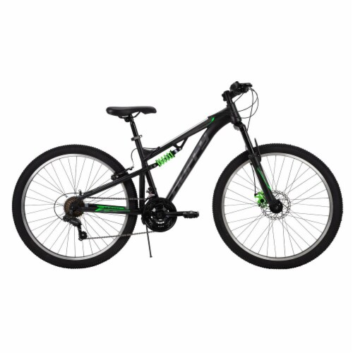 Huffy Men's Marker Mountain Bike - Black/Green Perspective: front