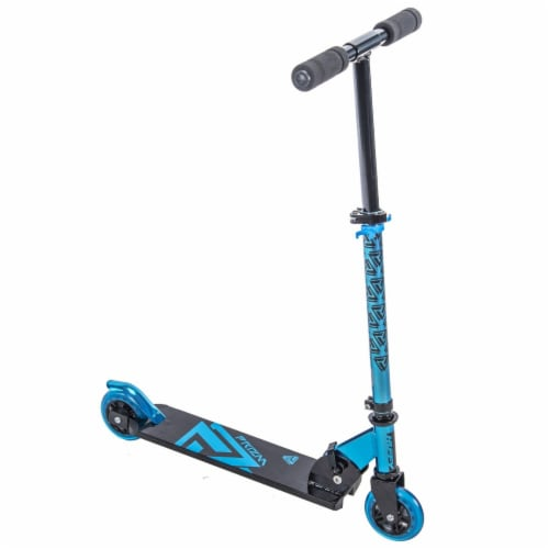 Huffy Prizm In-Line Scooter - Metaloid Blue Perspective: front