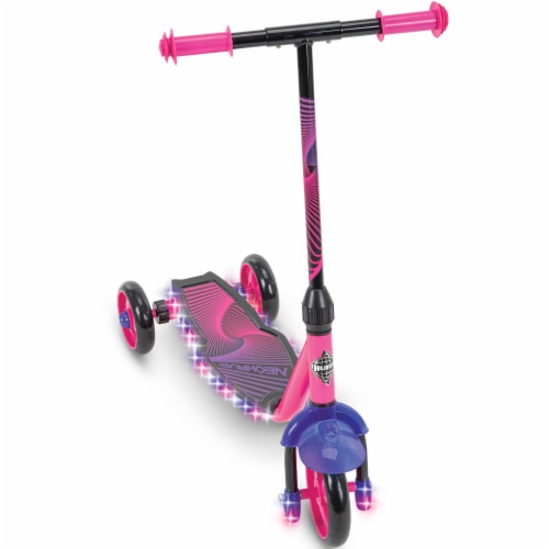 Huffy Neowave Electrolight 3-Wheel Scooter - Pink/Purple Perspective: front