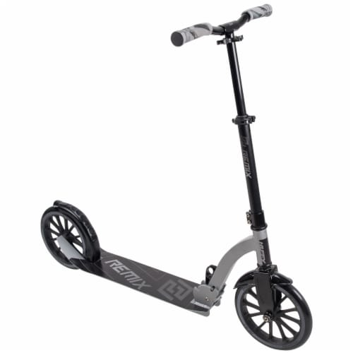 Huffy Remix In-Line Scooter - Gloss Black/Matte Silver Perspective: front