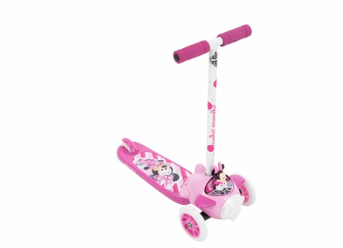 Huffy Minnie Mouse 3-Wheel Scooter - Pink/White Perspective: front