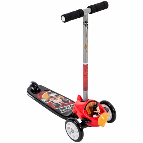 Huffy Mickey Mouse 3-Wheel Scooter - Red/Black Perspective: front
