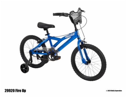 Huffy Fire Up Boys' Bicycle - Blue/Black Perspective: front