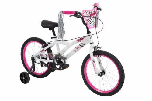 Huffy Fire Up Girls' Bicycle - Pink/White Perspective: front