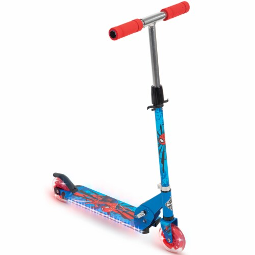 Huffy Spider-Man Inline Scooter - Red/Blue Perspective: front