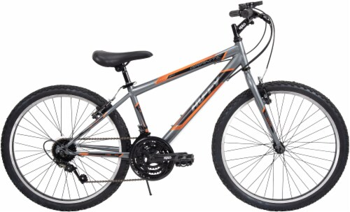 Huffy Granite Boys' Mountain Bicycle - Charcoal/Orange/Black Perspective: front