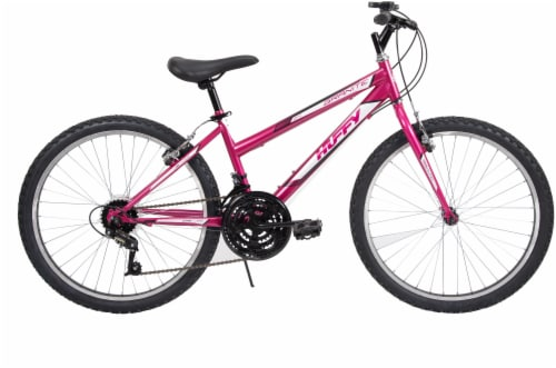Huffy Granite Girls' Mountain Bicycle - Orchid/White Perspective: front