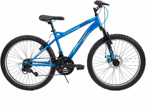 Huffy Extent Men's Mountain Bicycle - Matte Cobalt Perspective: front