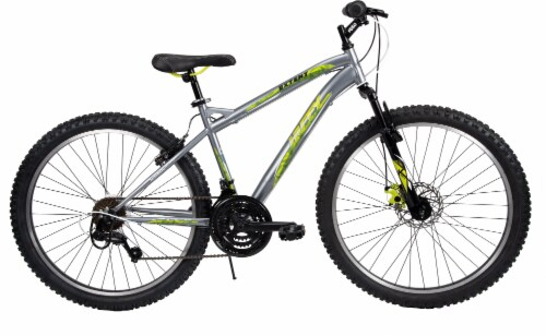 Huffy Extent Men's Mountain Bicycle - Matte Gunmetal Perspective: front