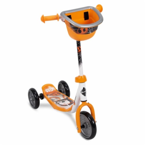 Huffy 78848 Star Wars BB8 Preschool Toddler Kick Scooter with Storage, Orange Perspective: front
