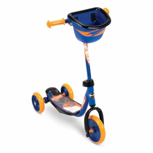 Huffy 78858 Star Wars Chewbacca Preschool Toddler Scooter with Storage, Blue Perspective: front