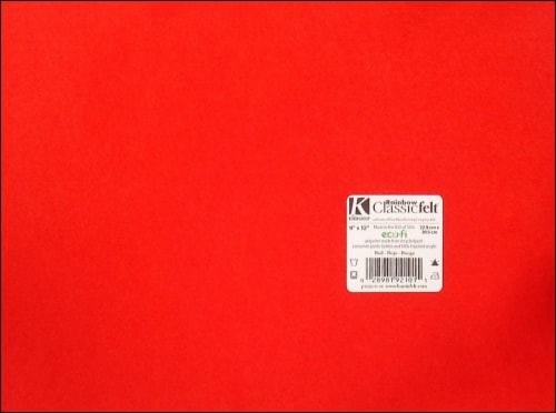 Kunin Felt Square - Red Perspective: front