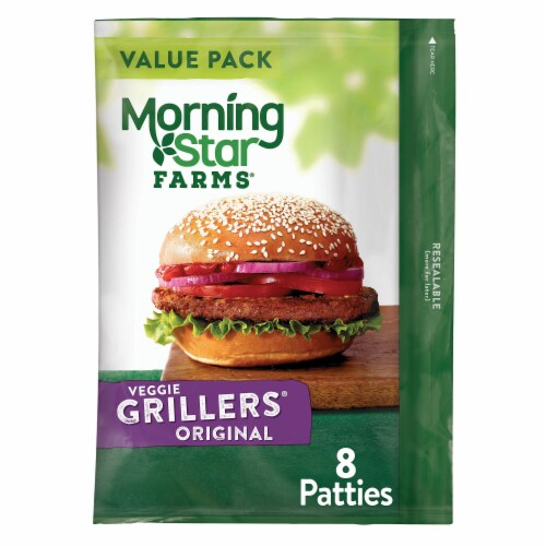 Morningstar Farms Grillers Original Veggie Burgers 8 Count Perspective: front