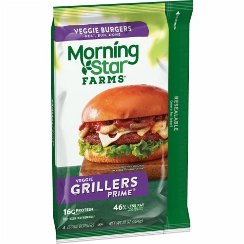 MorningStar Farms Grillers Prime Veggie Burgers Perspective: front