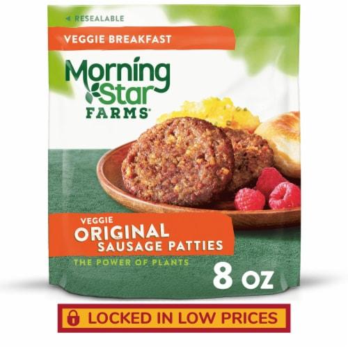 MorningStar Farms Frozen Veggie Breakfast Sausage Patties Original Perspective: front